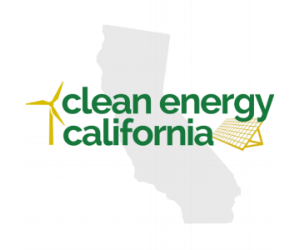 yellow and grey Clean Energy CA logo