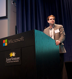JB Straubel giving keynote at Energy Storage Symposium